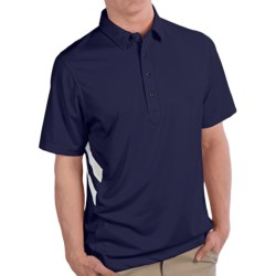Zero Restriction Gallery Polo Shirt - Short Sleeve (For Men) in Navy