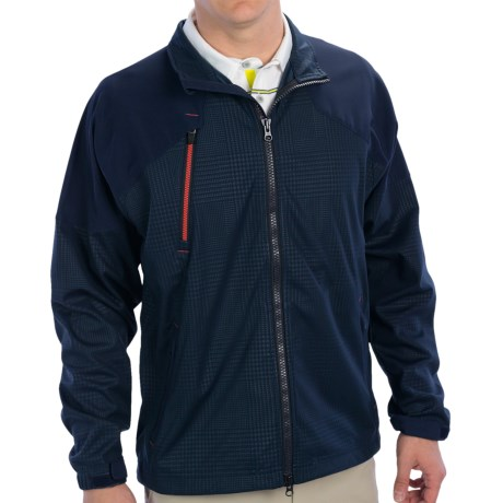 Zero Restriction Glen Covert Jacket (For Men) in Navy Plaid