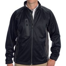 Zero Restriction Highland Color-Block Soft Shell Jacket - Full Zip (For Men) in Black/Battleship Grey - Closeouts