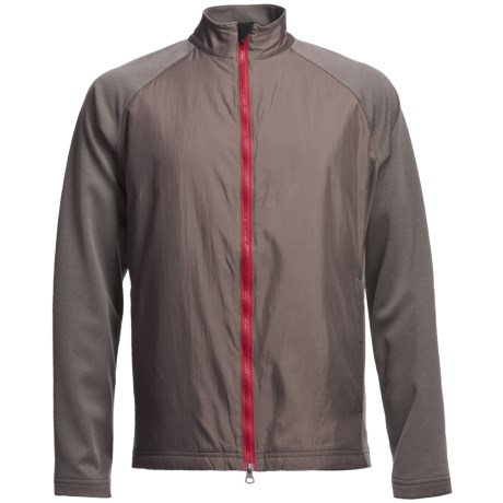 Zero Restriction Hybrid Medalist Jacket (For Men) in Battleship Grey/Mars Red