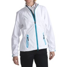 Zero Restriction Hybrid Packable Jacket - Waterproof (For Women) in White/Turquoise - Closeouts
