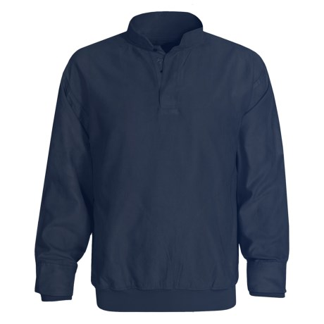 Zero Restriction Microsuede Wind Shirt - Long Sleeve (For Men) in Navy