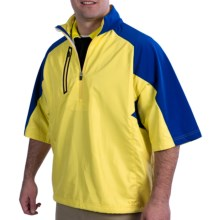 Zero Restriction Mix Pullover - Zip Neck, Half Sleeve (For Men) in Slicker Yellow - Closeouts