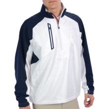 Zero Restriction Mix Wind Pullover Jacket - Zip Neck (For Men) in White/Navy - Closeouts
