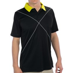 Zero Restriction Morrow Polo Shirt - Short Sleeve (For Men) in Black