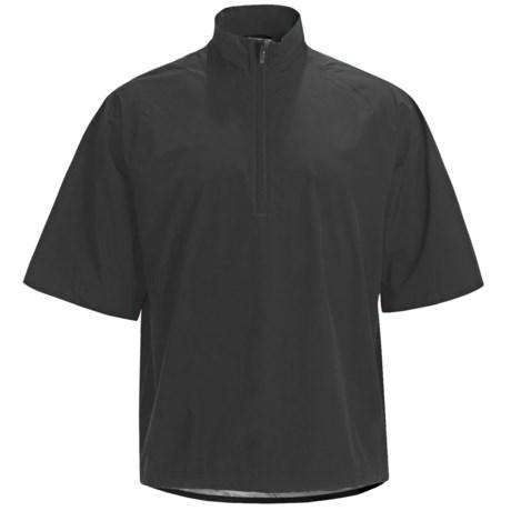 Zero Restriction Packable Jacket - Waterproof, Zip Neck, Elbow Sleeve (For Men) in Black