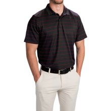 Zero Restriction Pencil Stripe Pique Polo Shirt - Short Sleeve (For Men) in Black/Red - Closeouts