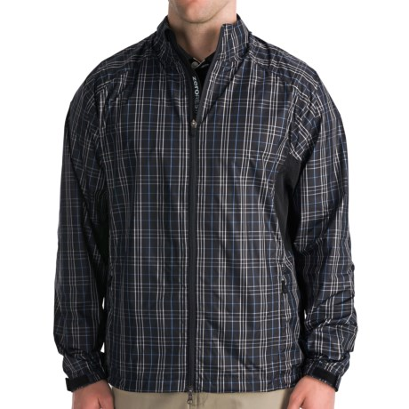 Zero Restriction Plaid Windshirt (For Men) in Black