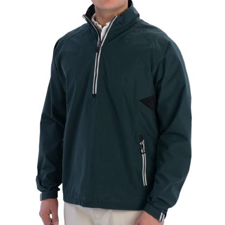 Zero Restriction Power Torque Pullover Jacket - Waterproof, Zip Neck (For Men) in Bottle/Black