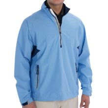 Zero Restriction Power Torque Pullover Jacket - Waterproof, Zip Neck (For Men) in Carolina/Blue Indigo - Closeouts