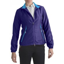 Zero Restriction Power Torque Wind Jacket (For Women) in Blueberry/Turquoise - Closeouts