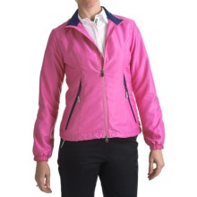 Zero Restriction Power Torque Wind Jacket (For Women) in Orchid Pink/Blueberry - Closeouts
