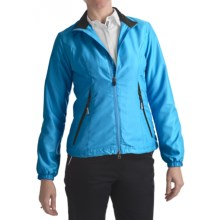 Zero Restriction Power Torque Wind Jacket (For Women) in Turquoise/Black - Closeouts