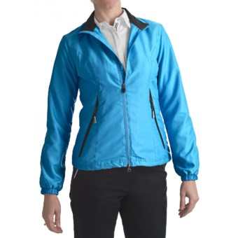 Zero Restriction Power Torque Wind Jacket (For Women) in Turquoise/Black