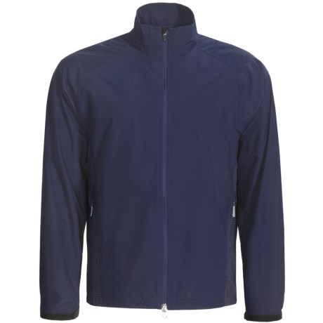 Zero Restriction Printed Packable Jacket - Waterproof (For Men) in Navy