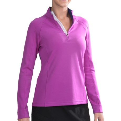Zero Restriction Samantha Shirt Zip Neck, Long Sleeve (For Women)