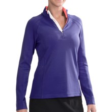 Zero Restriction Samantha Shirt - Zip Neck, Long Sleeve (For Women) in Storm/Tango - 2nds