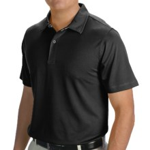 Zero Restriction Solid Pique Polo Shirt - Short Sleeve (For Men and Big Men) in Black - Closeouts