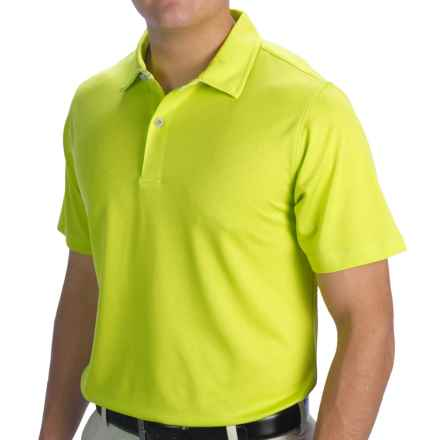 Zero Restriction Solid Pique Polo Shirt - Short Sleeve (For Men and Big Men) in Key Lime - Closeouts