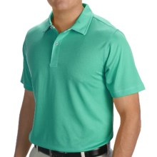 Zero Restriction Solid Pique Polo Shirt - Short Sleeve (For Men and Big Men) in Sea Green - Closeouts