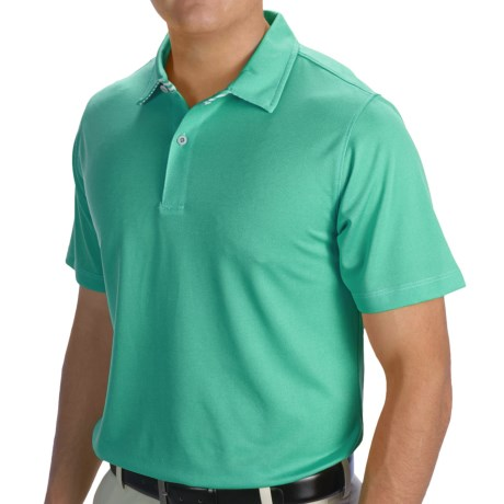 Zero Restriction Solid Pique Polo Shirt Short Sleeve (For Men and Big Men)