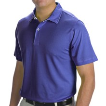 Zero Restriction Solid Pique Polo Shirt - Short Sleeve (For Men) in Bright Royal - Closeouts