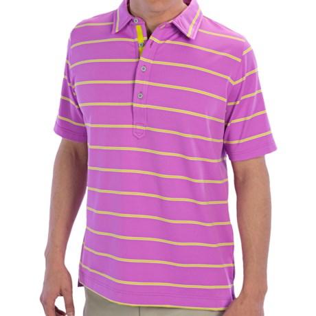 Zero Restriction Tiger Polo Shirt - Short Sleeve (For Men) in White
