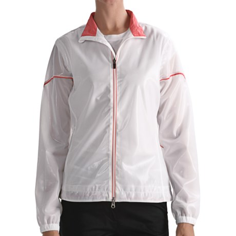 Zero Restriction Transparent Jacket (For Women) in White/Coral