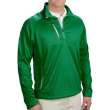 Zero Restriction Wedge Pullover Jacket - Zip Neck (For Men) in Clover - Closeouts