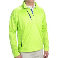 Zero Restriction Wedge Pullover Jacket - Zip Neck (For Men) in Key Lime - Closeouts