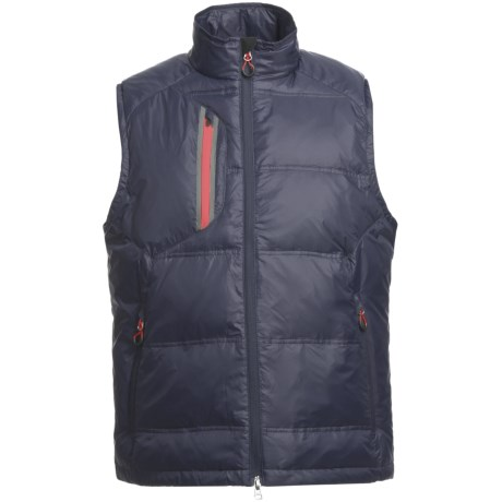 Zero Restriction White Goose Down Vest (For Men) in Navy