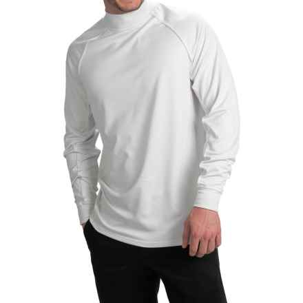Zero Restriction Z400 Mock Neck Shirt - Long Sleeve (For Men) in Cream - Closeouts