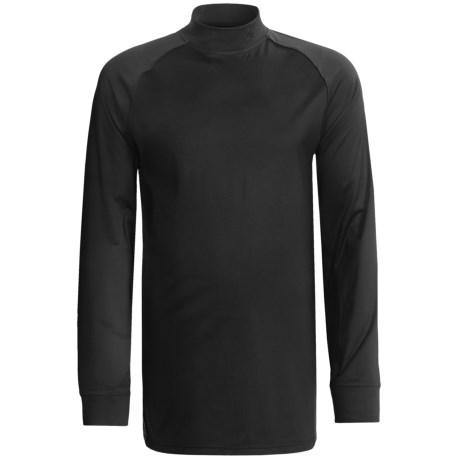 Zero Restriction Z400 Mock Shirt - Long Sleeve (For Men) in Black