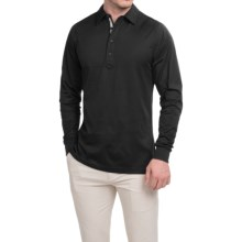 Zero Restriction Z400 Polo Shirt - Long Sleeve (For Men) in Black - Closeouts