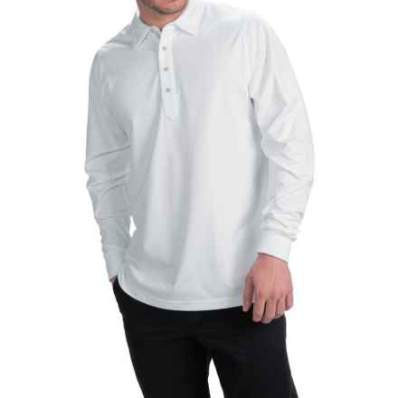 Zero Restriction Z400 Polo Shirt - Long Sleeve (For Men) in White - Closeouts