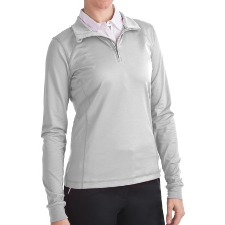 Zero Restriction Z400 Zip Mock Shirt - Long Sleeve (For Women) in White