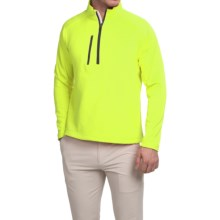Zero Restriction Z500 Pullover Shirt - Zip Neck, Long Sleeve (For Men) in Fluorescent/Black - Closeouts
