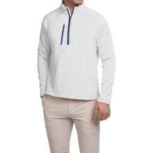 Zero Restriction Z500 Pullover Shirt - Zip Neck, Long Sleeve (For Men) in White/Bright Royal - Closeouts