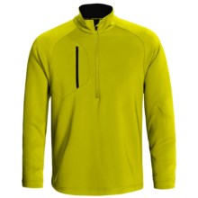 Zero Restriction Z500 Pullover - Zip Neck, Long Sleeve (For Men) in Chartreuse/Black - Closeouts