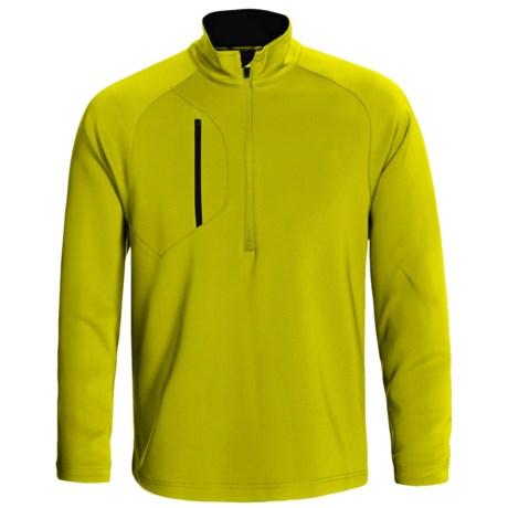 Zero Restriction Z500 Pullover - Zip Neck, Long Sleeve (For Men) in Chartreuse/Black