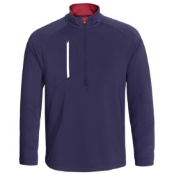 Zero Restriction Z500 Pullover - Zip Neck, Long Sleeve (For Men) in Chartreuse/Black