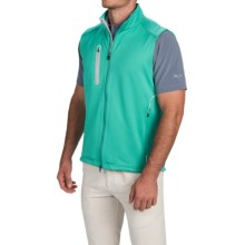 Zero Restriction Z550 2.0 Soft Shell Vest (For Men) in Sea Green/Metallic Silver - Closeouts