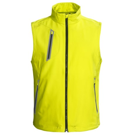 Zero Restriction Z550 Soft Shell Vest (For Men) in Chartreuse