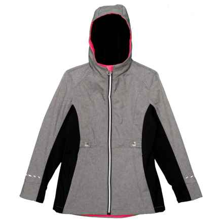 ZeroXposur Adrina Soft Shell Jacket (For Big Girls) in Mid Heather - Closeouts