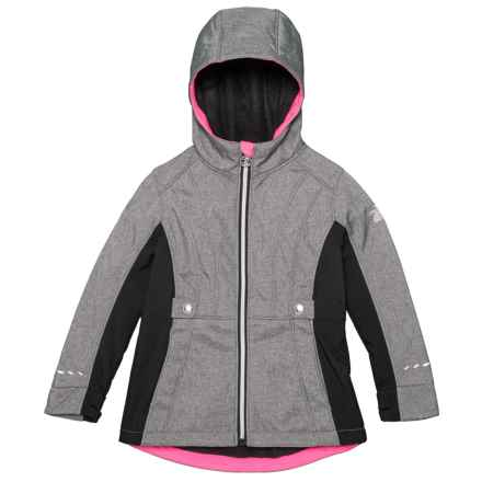 ZeroXposur Adrina Soft Shell Jacket (For Little Girls) in Mid Heather - Closeouts