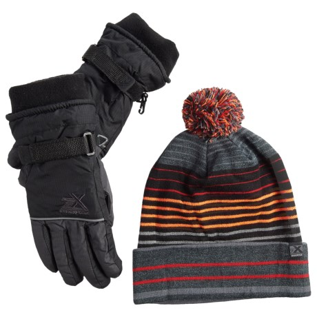 ZeroXposur Boyce Beanie and Gloves Set - Insulated (For Big Boys) in Slate