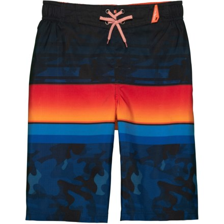 0d4b08d25 ZeroXposur Grom Stripes Print Swim Trunks - UPF 50+ (For Big Boys) in