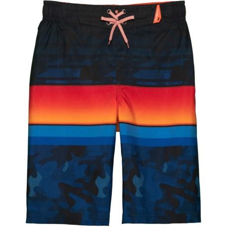064e3a97e5 ZeroXposur Grom Stripes Print Swim Trunks - UPF 50+ (For Big Boys) in