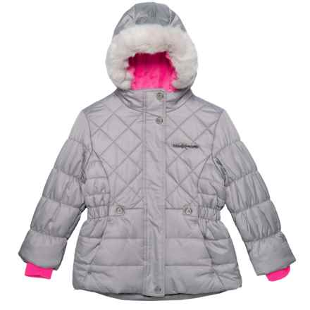 ZeroXposur Lexy Puffer Jacket - Insulated (For Little Girls) in Alloy - Closeouts