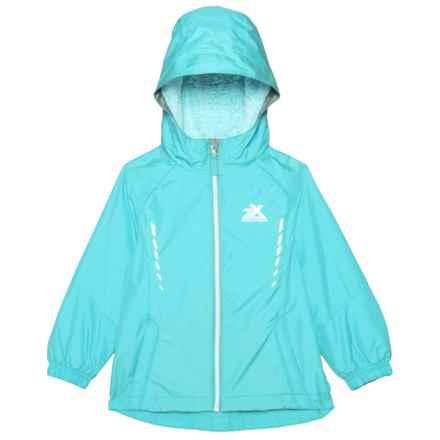 ZeroXposur Marion Windbreaker Jacket - Insulated (For Little Girls) in Mist - Closeouts